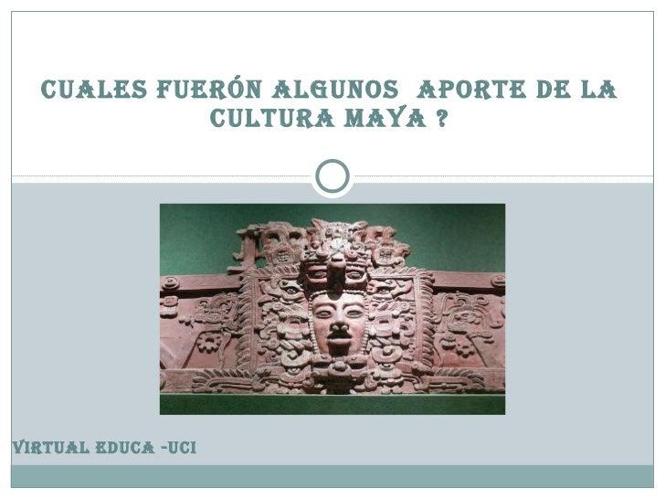Aportes de los mayas