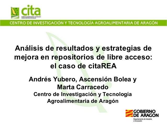 Análisis de resultados y estrategias de mejora en repositorios de libre acceso: el caso de citaREA webinar