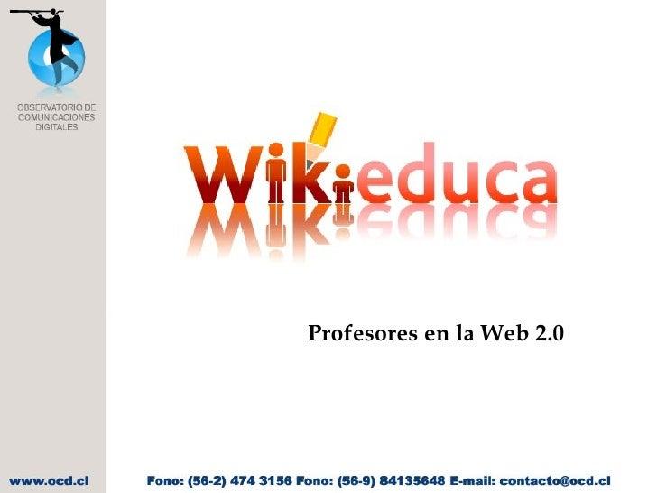 Profesores en la Web 2.0