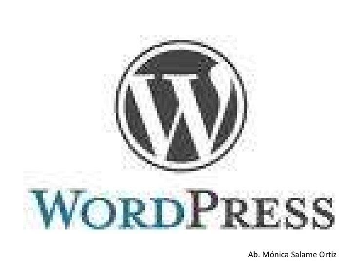 Presentacion Wordpress
