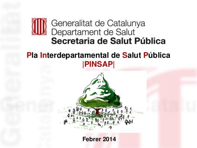 Pla Interdepartamental de Salut Pública  PINSAP   Febrer 2014