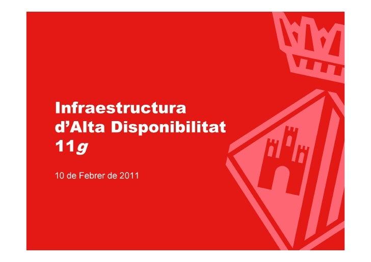 Infraestructura d'Alta Disponibilitat Oracle 11g