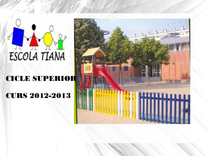 CICLE SUPERIORCURS 2012-2013