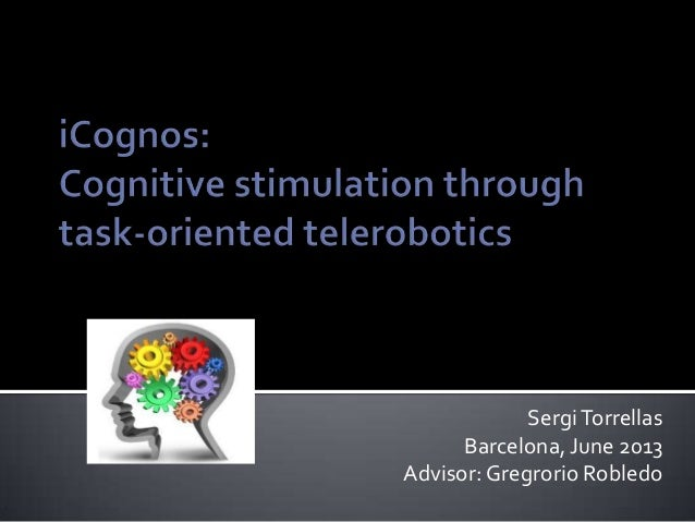 Sergi Torrellas      Barcelona, June 2013Advisor: Gregrorio Robledo