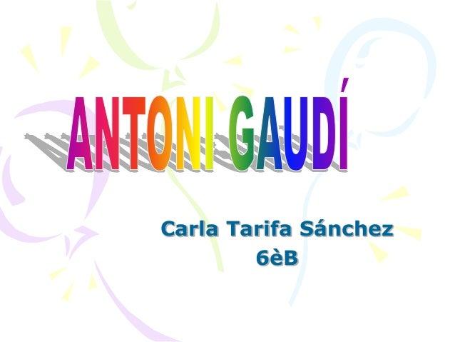 Carla Tarifa Sánchez 6èB