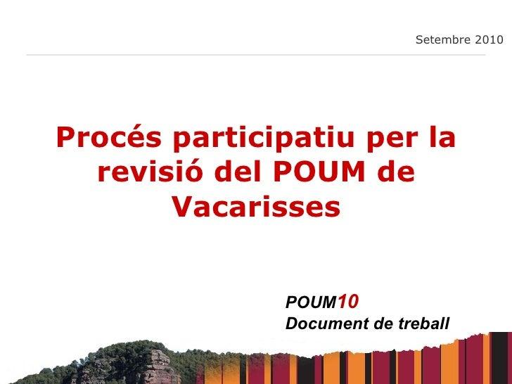 Procés participatiu per la revisió del POUM