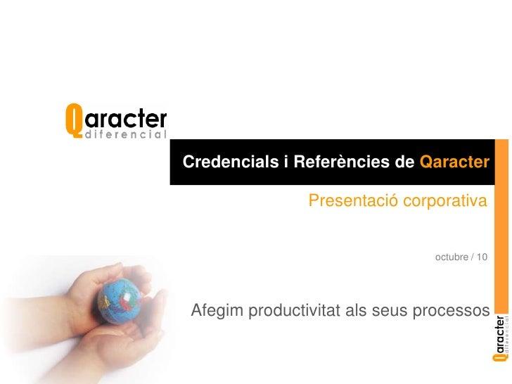 Presentació Qaracter