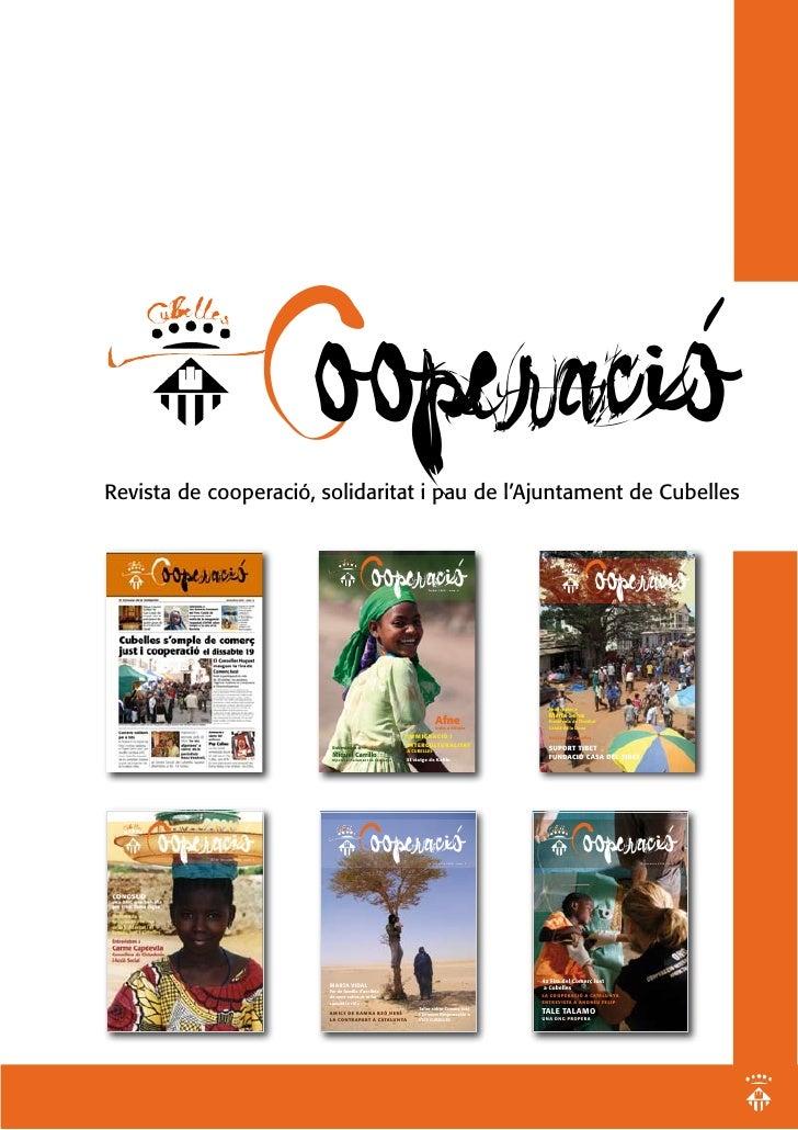 Cooperació Revista de cooperació, solidaritat i pau de l'Ajuntament de Cubelles                                          C...