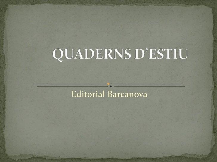Editorial Barcanova