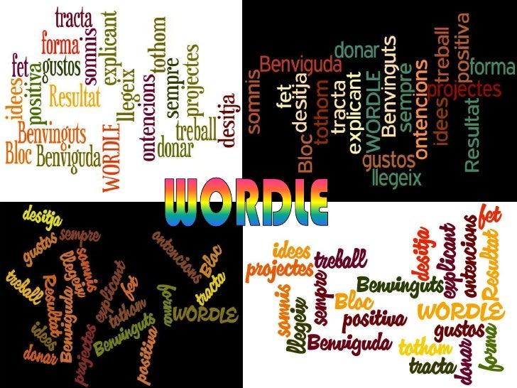 Presentació wordle