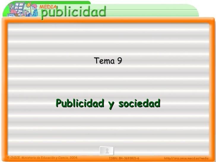 Publicidad y sociedad Tema 9