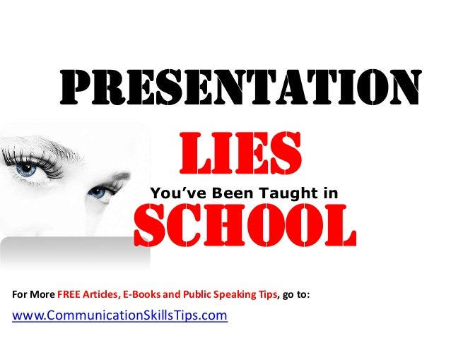 Presentation                          Lies                             You've Been Taught in                         Schoo...