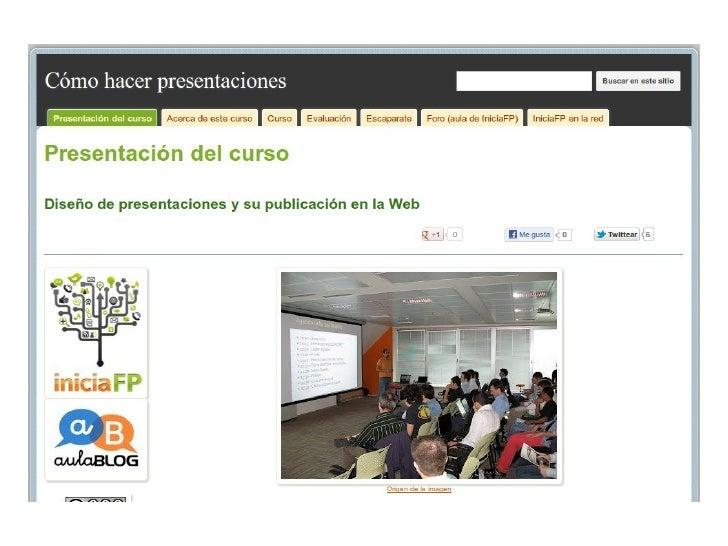 Presentación curso presentaciones iniciaFP