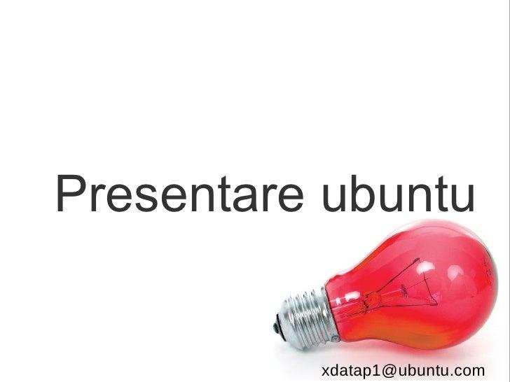 Presentare ubuntu