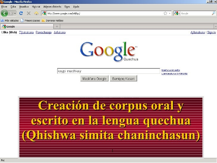 Corpus del Quechua