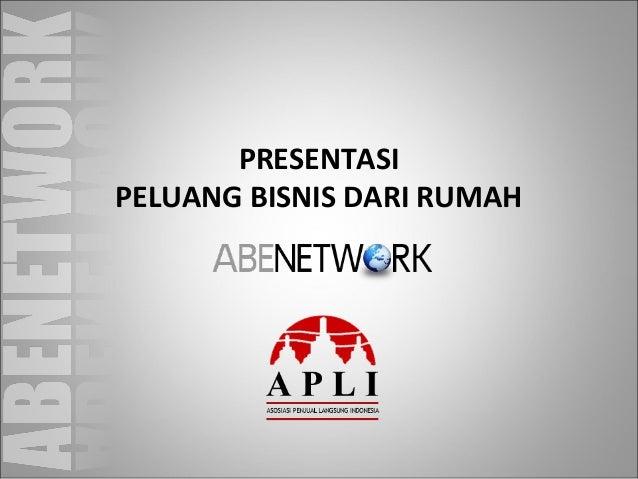 Presentasi Online Bisnis ABE