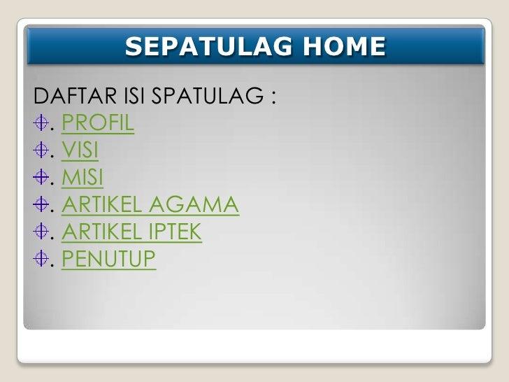 Presentasi kelompok Spatulag