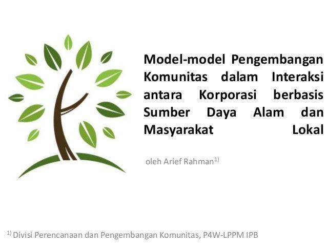 Model-model Pengembangan                                     Komunitas dalam Interaksi                                    ...