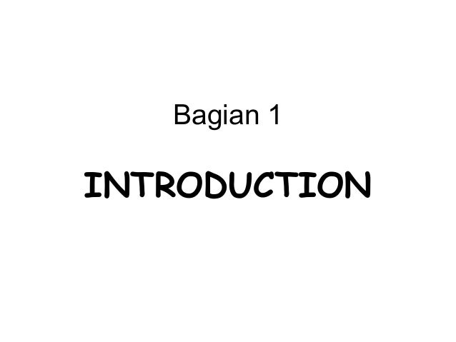 Bagian 1  INTRODUCTION