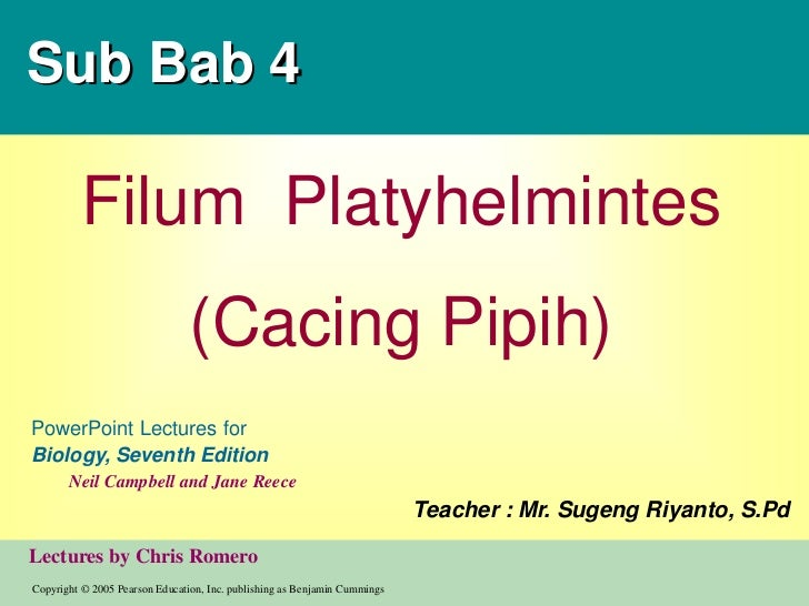PPT Biologi SMA-Platyhelminthes&Nemathelminthes