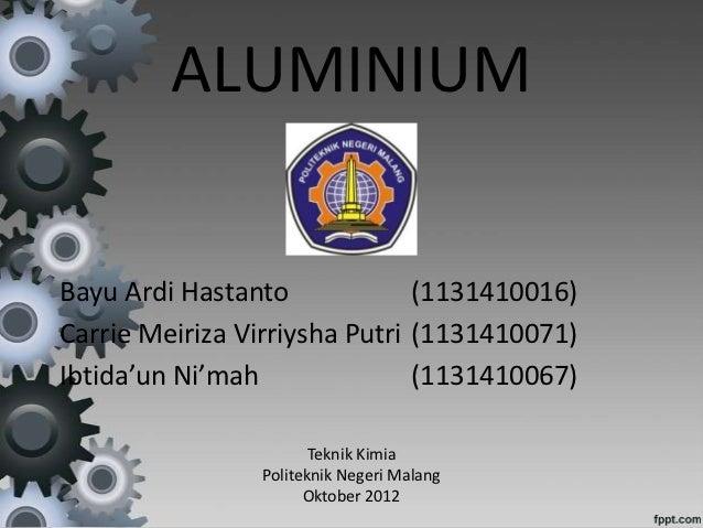 Presentasi aluminum