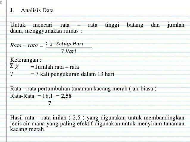 Laporan Hasil Penelitian Biologi Pengaruh Jenis Media Air Download Lengkap