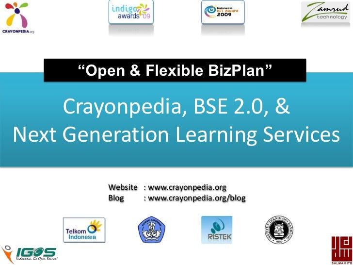 Presentasi Crayonpedia, BSE 2.0, & Next Generation Learning Services v Revisi 6