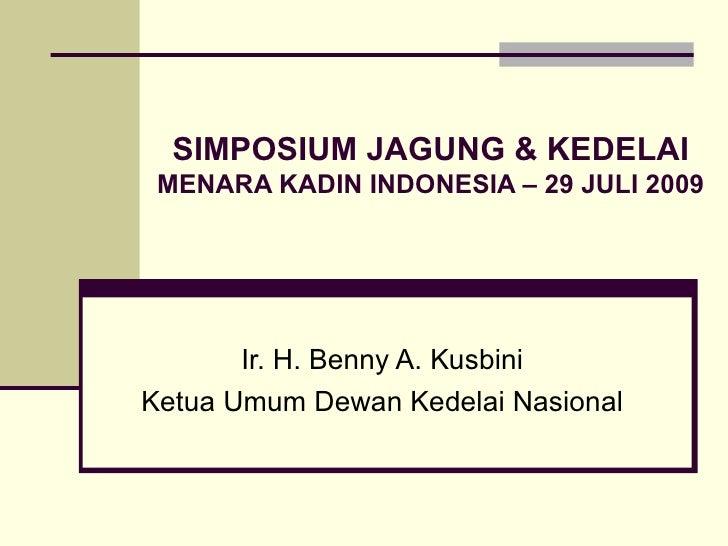 Presentasi Dewan Kedelai Nasional (Dekenas)  Kadin