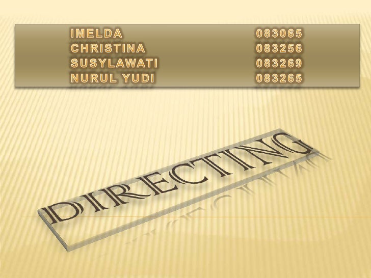 Presentasi directing