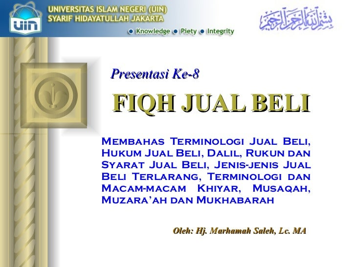 Presentasi Fiqh 8