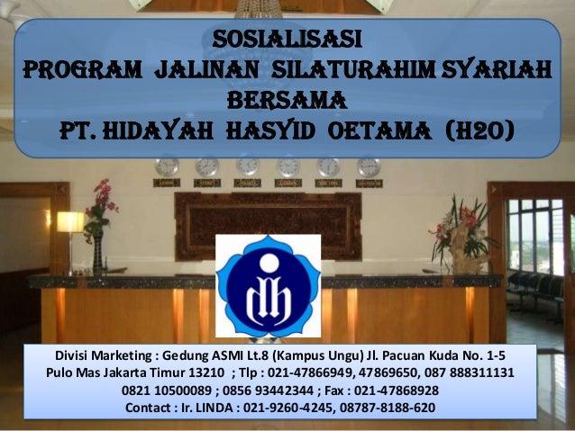 Divisi Marketing : Gedung ASMI Lt.8 (Kampus Ungu) Jl. Pacuan Kuda No. 1-5 Pulo Mas Jakarta Timur 13210 ; Tlp : 021-4786694...