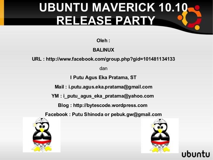 Presentasi linux lpba denpasar 2010