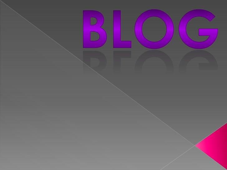 Un blog, en español también bitácora digital osimplemente bitácora, es un sitio web periódicamenteactualizado que recopila...