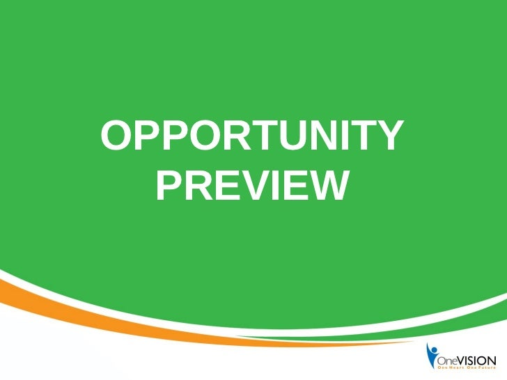 TIENS Opportunity Preview