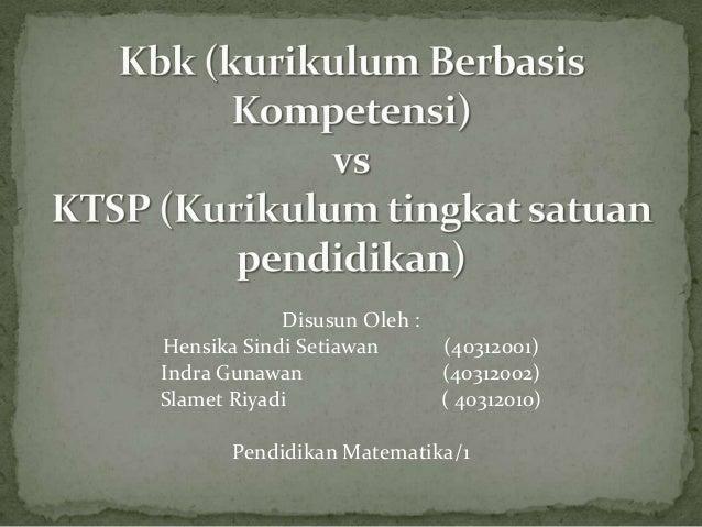 KBK dan KTSP