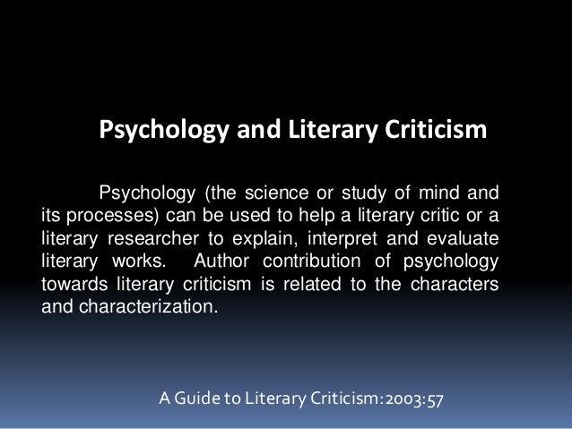 Psychology literature