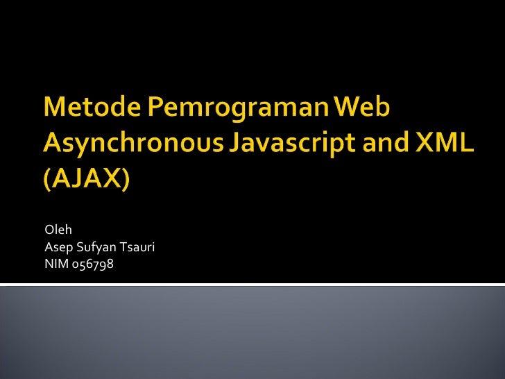 AJAX: Presentasi Seminar