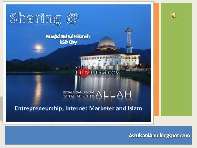 Presentasi spiritual entrepreneur masjid