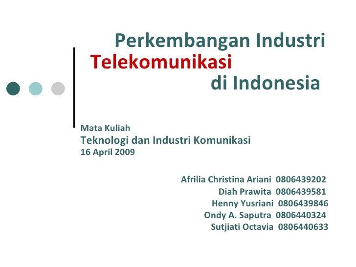 Presentasi telekomunikasi