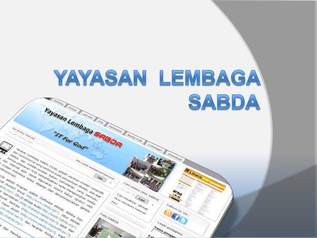 Presentasi YLSA 2013