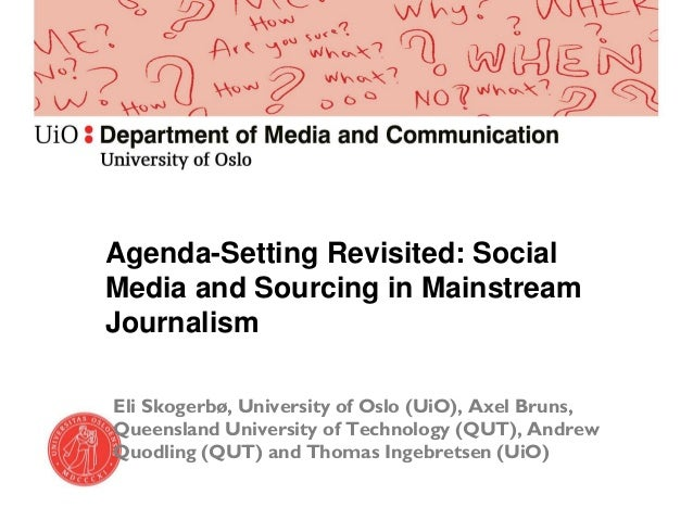 theretical review agenda setting theory Agenda-setting effects of business news on  ability of agenda-setting theory for  the theoretical distinction between an agenda of objects and an agenda of attri-.