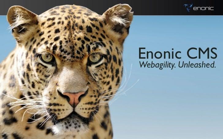 Enonic CMSWebagility. Unleashed.