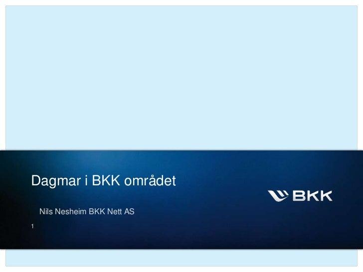 Presentasjon om dagmar fra bkk nett 13.01.12