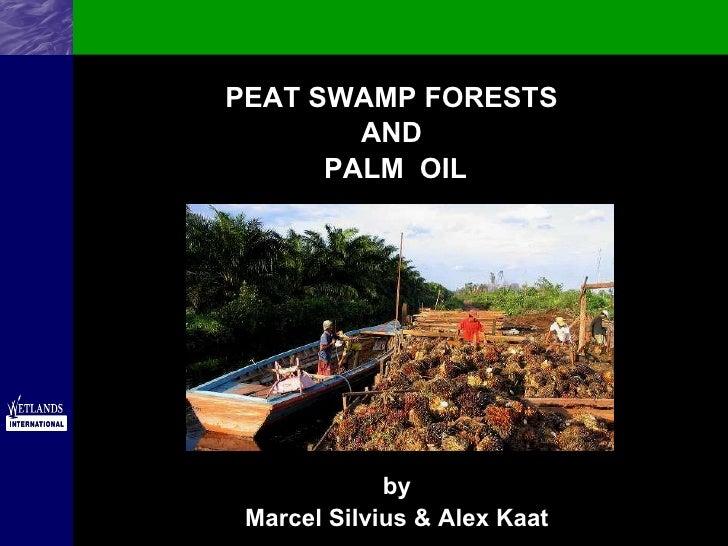 <ul><li>PEAT SWAMP FORESTS  </li></ul><ul><li>AND  </li></ul><ul><li>PALM  OIL </li></ul>by Marcel Silvius & Alex Kaat