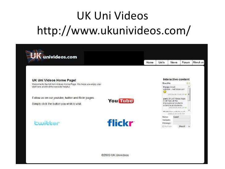 UK Uni Videos http://www.ukunivideos.com/<br />