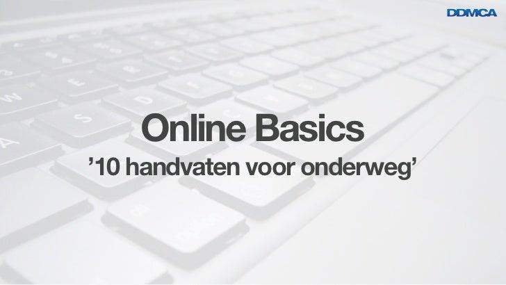 Online Basics'10 handvaten voor onderweg'