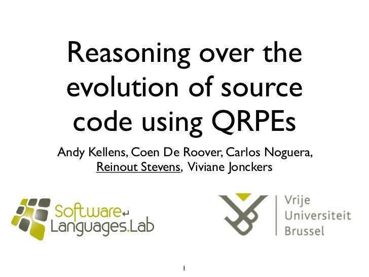 Reasoning over the evolution of source code using QRPE
