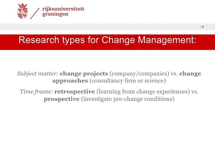 Master thesis change management