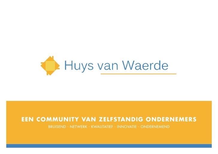 Huys van Waerde - Concept presentatie