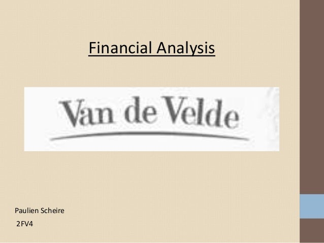 Financial AnalysisPaulien Scheire2FV4